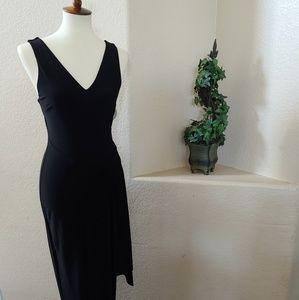 TJD sleeveless Black Maxi Dress